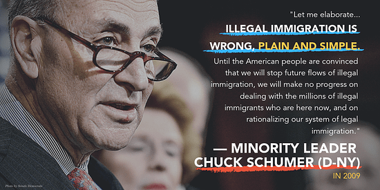 """Let me elaborate...illegal immigration is wrong, plain and simple. Until the American people are convinced that we will stop future flows of illegal immigration, we will make no progress on dealing with the millions of illegal immigrants who are here now, and on rationalizing our system of legal immigration."""